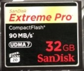 CF SanDisk Extreme Pro 600X - 90Mbps FULL HD VIDEO 32GB