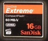 CF SanDisk Extreme 400X - 60Mbps FULL HD VIDEO 16GB
