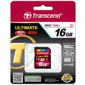 SDHC TRANSCEND Class 10 UHS-I 600x (Ultimate) 16Gb